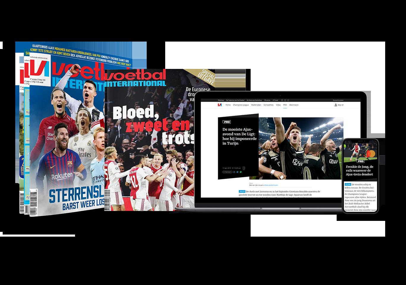 Bestel een aflopend proefabonnemt Voetbal International met korting nu 8 weken VI voor maar 24 Euro 8 x VI voor 24 Euro (stopt automatisch)